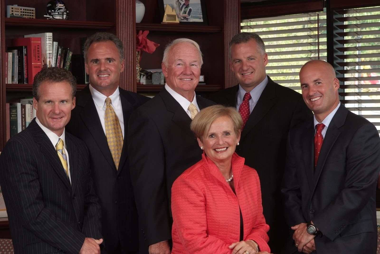 The Kelly Family: Frank Kelly Jr. and his wife, Janet, with their four sons (from left): John, Frank III, David and Bryan.